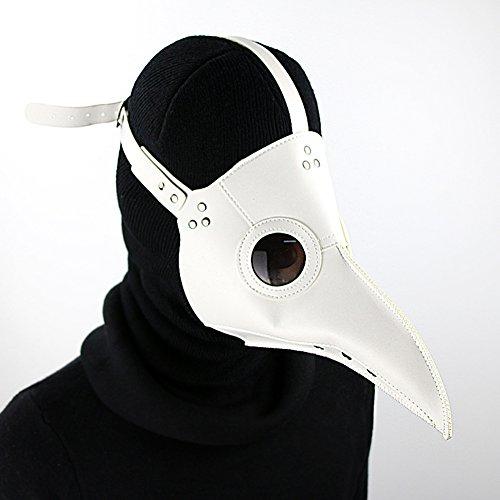 Los médicos Máscara Skeleteen Doctor Medieval Peste Negro de Cuero de imitación...