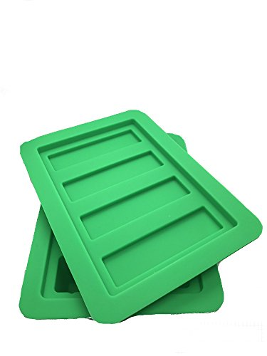 Gourmet Silicone Butter Mold w/Lid For Herbal Butter, Soap Bar, Muffin, Brownie, Cornbread, Cheesecake. FDA Approved (Green)
