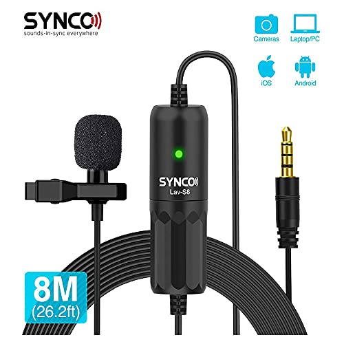 SYNCO LAV-S8 Omnidirectional Lavalier Condenser Microphone