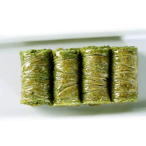 Gulluoglu Pistachio Wrap, Turkish Wrap Baklava with Pistachio, Freshly Produced and Long Lasting, Traditional Turkish Baklava (42 Pcs (3.3 lb - 1500 gr))