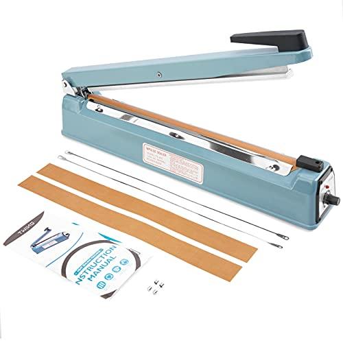 Twing 16 inch Impulse Bag Sealer Poly Bag Heat Sealer Sealing Machine Heat Seal Closer with Repair Kit