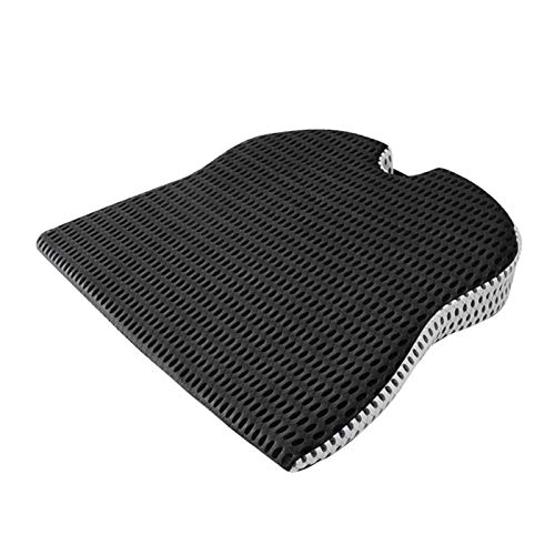 WANSIRUI Car Wedge Seat Cushion for Car Driver Seat Office Chair Wheelchairs Memory Foam Seat Cushion-Orthopedic Support and Pain Relief (Color Name : Black)