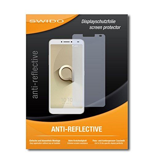 SWIDO Schutzfolie für Alcatel 3V [2 Stück] Anti-Reflex MATT Entspiegelnd, Hoher Festigkeitgrad, Schutz vor Kratzer/Bildschirmschutz, Bildschirmschutzfolie, Panzerglas-Folie