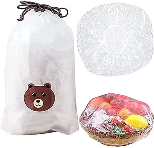 Emmettben Sacchetti per la conservazione dei prodotti freschi 100 pezzi, sacchetti per la conservazione degli alimenti freschi da mettere sui piatti, sacchetti per la conservazione degli avanzi
