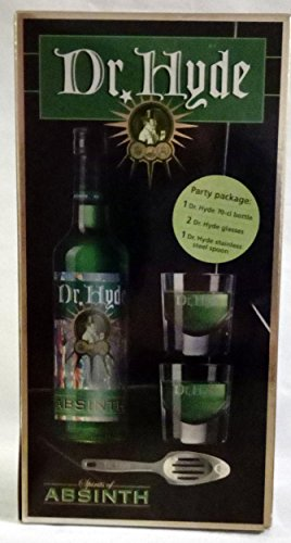 Absinth Party Pack 70cl. + 2 Dr. Hyde Glasses + 1 Dr. Hyde Spoon