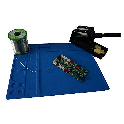Soldering Mat Silicone Hobby Mat Project Mat Reach 932°F Soldering Board Electronics Mat for Heat Gun Soldering Iron Repair Mat Workbench Mat (13