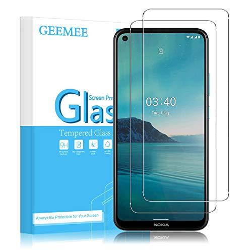 GEEMEE für Nokia 3.4 /Nokia 5.4 Panzerglas Schutzfolie, 9H Filmhärte Gehärtetem Schutzglas, Hohe Empfindlichkeit Panzerglas Bildschirmschutzfolie (Transparent) - 2 Pack
