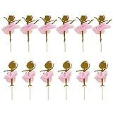 Toyvian Topper per Cupcake Ornamenti per la Torta della Ragazza di Ballo di Balletto Decorazione per...