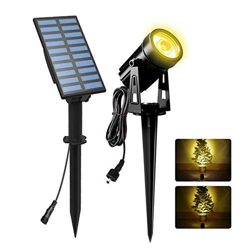 Solar Gartenleuchte, NATPOW LED Solarlampe Garten Automatisch On / Off Wasserdicht Solarlicht Gartenlampe für Außen Garten Auffahrt Weg Swimmingpool (Warmweiß 3000K)