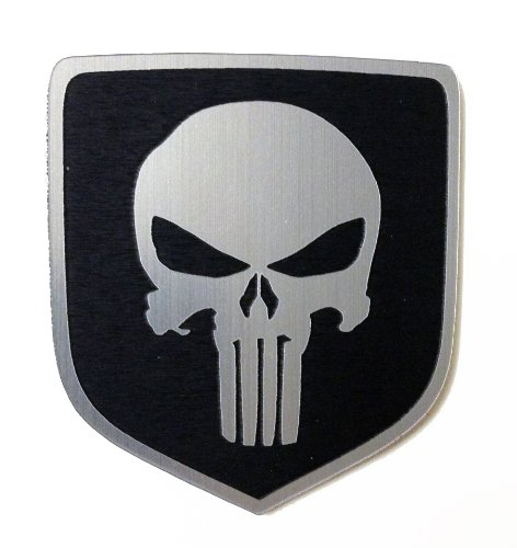 2013 Dodge Ram Truck Steering Wheel Emblem Badge Punisher Black