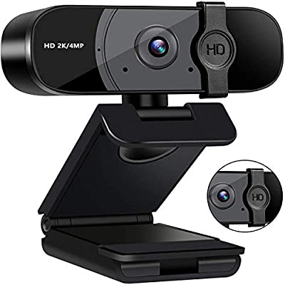 Webcam with Microphone,1440P PC Computer Web Ca...