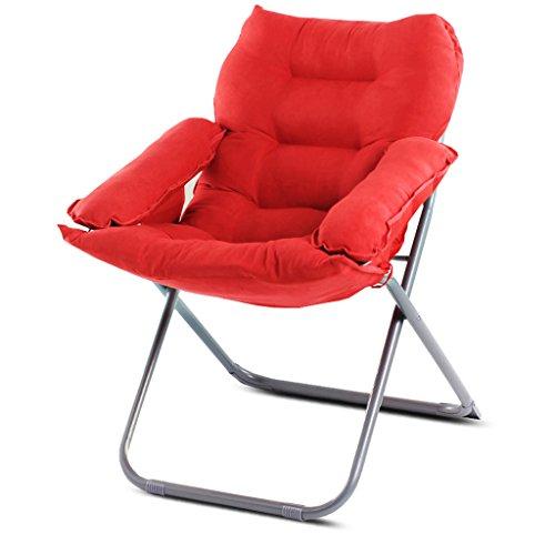 YLLXX Creative Paresseux Unique Canapé Chaise Maison Chambre Moderne Minimaliste Balcon Inclinable Loisirs Pliage Dortoir Ordinateur Chaise (58 * 66 * 91 Cm)
