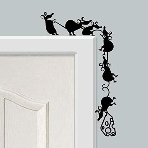 BLOUR Aufkleber Design Wallpaper Lustige Kletterkäse Mäuse Lichtschalter Wandtattoo PVC WandkunstPoster Wohnzimmer Haus Dekoration