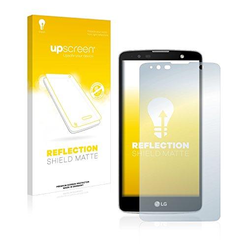 upscreen Entspiegelungs-Schutzfolie kompatibel mit LG Stylus 2 Plus – Anti-Reflex Bildschirmschutz-Folie Matt