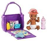 Barbie GHV86 - Skipper Babysitters Inc. Fütter- und Wickel Spielset, Baby-Puppe mit Farbwechselfunktion, Wickeltasche und Zubehör, Spielzeug ab 3 Jahren