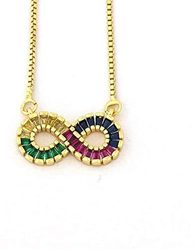 ZJJLWL Co.,ltd Collar de Moda de 8 Formas Collar con Colgante Collar de Cadena con dijes para Mujeres Hombres niñas Accesorios de joyería Fina para Fiestas Regalo