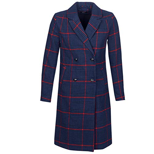 Only Onlnew Louisianna Check Coat Otw Abrigo, Multicolor (Blueprint Checks: Scarlet Sage), 40 (Talla del Fabricante: Medium) para Mujer