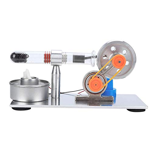 HEEPDD Single Cylinder Sterling Engine, Motor Steam Heat Education Physics Science Experiment Model Toy Kit Model Steam Power Lab Teaching Model