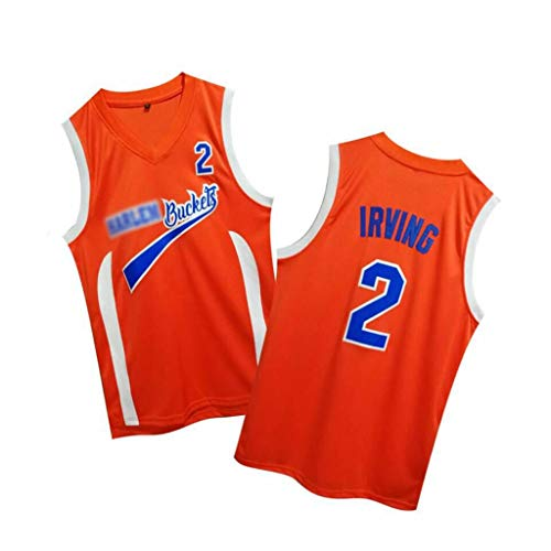 HWHS316 Drew # 2 Kyrie Irving Movie Versione Uniforme da Basket Gilet Sportivo Competizione Uniforme da Allenamento Tuta da Ballo Confortevole Maglia da Uomo Maglia da Donna,L175~180CM