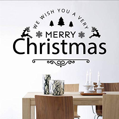 Makeyong Adesivo Da Parete In Vinile Adesivo Da Parete In Vinile Con Decoro Di Buon Natale E Felice Anno Nuovo Adesivo Da Parete Home Decor Xmas Wall Art67X42Cm