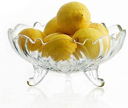 COLiJOL Plato de Frutas Plato de Frutas Cuenco de Frutas Encimera de Vidrio Canasta de Frutas de Metal Estilo Vintage Mantiene Frutas Y Verduras Canasta de Frutas Frescas