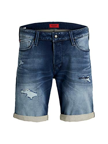 JACK & JONES Jjirick Jjicon Shorts GE 854 I.k. STS Pantalones Cortos, Azul (Blue Denim Blue Denim), 54 (Talla del Fabricante: Large) para Hombre