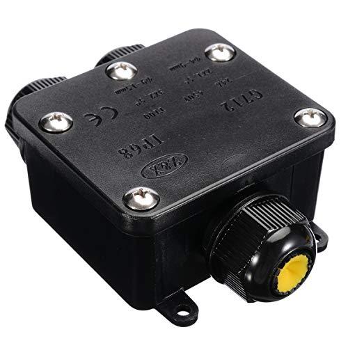 WNJ-TOOL, 1pc 3-Wege-Kunststoff-wasserdichte elektrische Anschlussdose Kabel-Draht-Anschluss IP68 1 In 2 Out