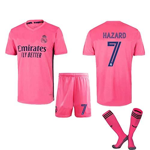 YONG 20/21 Camiseta De Fútbol Real Madrid Home/Away Game No.7 Ropa De Entrenamiento De Competición para Adultos para Adultos Y Niños,2,M