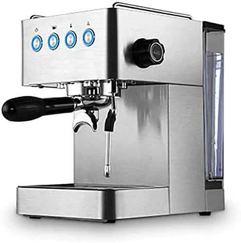 Vapor Maquina de cafe, boquilla para cafetera espresso Bebidas favoritas Función de botón simple presionar 2 tazas 1450 W 1.7 L Plata