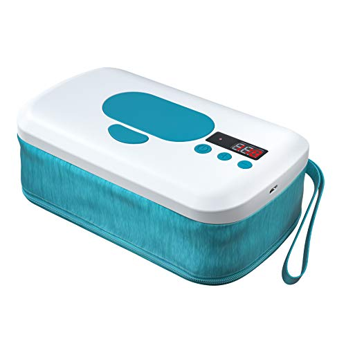 Portable Wipe Warmer with 10000 mAh Battery Powered,2 Modes, Smart Temperature Control, LED Display,Perfect for Baby Diaper Change,Travel,Car,On The Go