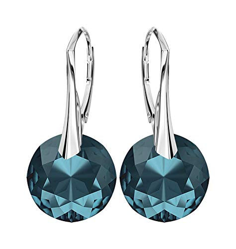 Beforya Paris Sunset Exclusive Earrings 18 Colours Beautiful 925 silver earrings with Crystals Compatible for Swarovski wonderful earrings.
