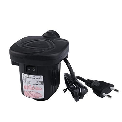 Yowablo Elektrisches 12-V-Auto 240-V-Netz-Luftbettpumpen-Inflator für aufblasbare Pool-Schwimmringe (1Stck,Schwarz)