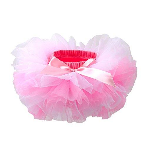Slowera Baby Girls Soft Tutu Skirt (Skorts) 0 to 36 Months (L: 12-24 Months, Pink White)