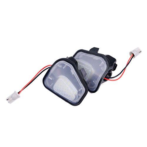 CITALL 2 pcs 12V LED Blanc côté Miroir flaque lumière LED Miroir Puddle lumières Aucune Erreur pour VW CC EOS Passat Scirocco