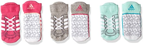 adidas Baby Infinitex 3 Pair Pack Socken, Real Magenta/Medium Grey Heather/Clear Mint, EU 27-30