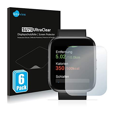 Savvies 6X Schutzfolie kompatibel mit Letsfit IW1 Bildschirmschutz-Folie Ultra-transparent