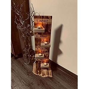 Adventschild mit Bodenplatte und Beleuchtung/Adventskranz Holzstüberl