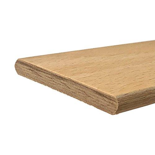 10 Listelli Curvati in Legno di Faggio - Ricambio per Doga – 6,7 X 89 X 0,8 Cm