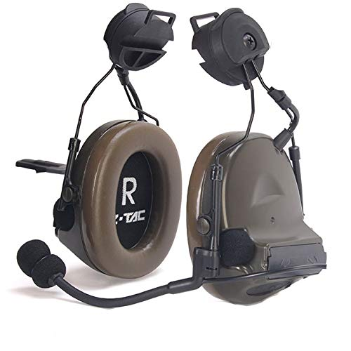【ZTAC Official】 Z-Tactical Comtac II/III Tactical Headset+Fast/Wendy Classical/Rotatable Adapter Noise Canceling Sound Collection G:1 Non-Mil-Spec FG (Z031-C2-Fast-C)