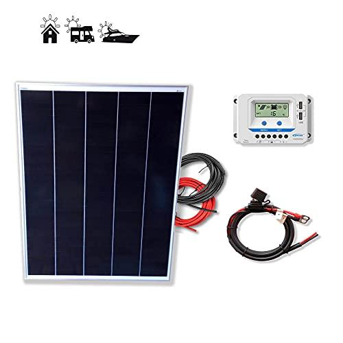 Kit 200W PRO 12V panel solar placa monocristalina Tecnología Shingled cells de alta eficiencia para caravanas autocaravanas