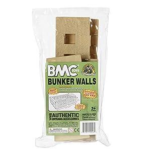 BMC WW2 Bunker Walls - Tan Plastic Army Men Playset Accessory Building