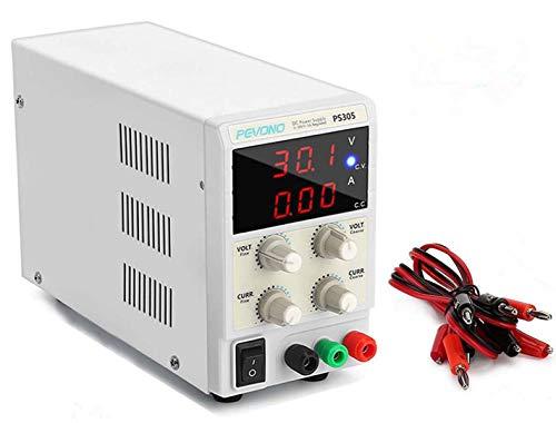 Pevono PS305 Bench DC Power Supply Variable, 0-30V/0-5A 3