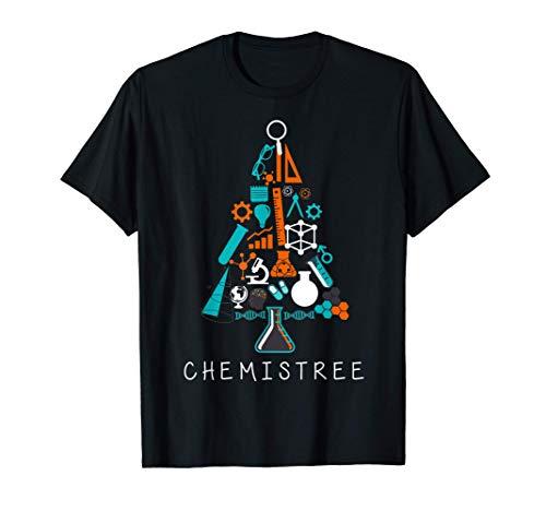 Chemistree Weihnachtsbaum lustiges Chemie Wissenschaft Labor T-Shirt