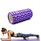 10*30cm Medium Density Round Foam Roller, Deep Tissue Massager Tools for Physical Therapy Massage Help Back and Leg Neck Muscle Recovery, Myofascial Trigger Body Point Release, Purple