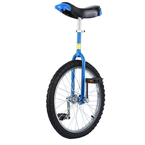 """Yonntech 16\""""/ 20\"""" / 24\"""" Erwachsenentrainer Einrad höhenverstellbar Skidproof Butyl Mountain Reifen Balance Radfahren Heimtrainer Fahrrad (16\"""" Blau)"""