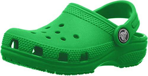 Crocs Classic Clog K, Zuecos Unisex Niños, Grass Green, 24/25 EU