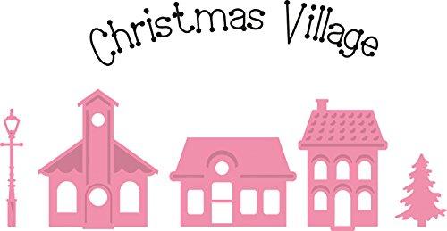 Marianne Design Collectables Weihnachtliches Minidorf - Stempel und Stanzschablone für die Kartengestaltung und Scrapbooking, Metal, pink, 3.8 x 4.4 x 0.4 cm