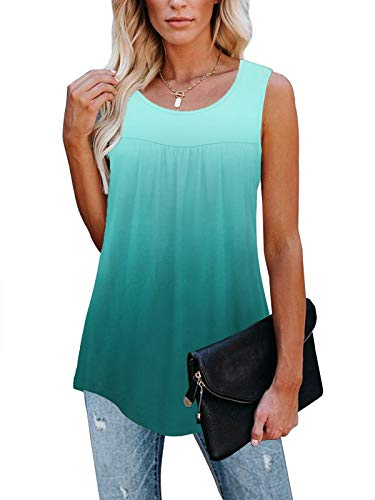 TECREW Womens Sleeveless Active Tank Tops Ruffle Loose Tunic Blouse Shirt