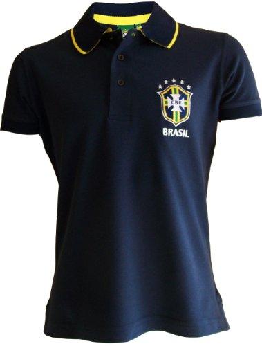 Camiseta polo oficial de la selección de fútbol de Brasil, para hombre, talla de adulto, azul, X-Large