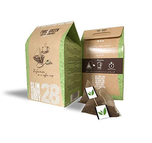 Pure Green Skinny Coffee, 28-tägiges Entgiftungsprogramm. Gewichtsabnahme und Fettverbrennung. Natürlicher Geschmack und Appetitunterdrücker. Schnell sichtbare Ergebnisse. Großartig als Energiegetränk